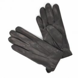 Черные перчатки из козлиной кожи без подкладки АКЦЕНТ