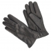Черные мужские перчатки из козлиной кожи на овечьем меху АКЦЕНТ