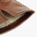 Коричневые перчатки ручной работы из овчины с подкладкой АКЦЕНТ