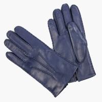 Синие перчатки ручной работы из овчины с подкладкой АКЦЕНТ
