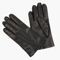 Черные перчатки ручной работы из овчины с подкладкой АКЦЕНТ
