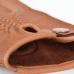 Коричневые перчатки из оленьей кожи без подкладки АКЦЕНТ