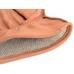 Коричневые перчатки из оленьей кожи с подкладкой АКЦЕНТ