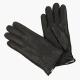 Черные перчатки из оленьей кожи на меху АКЦЕНТ