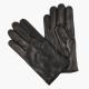 Черные перчатки из овчины с шерстяной подкладкой АКЦЕНТ