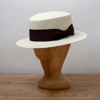 Светлая шляпа канотье K.DORFZAUN