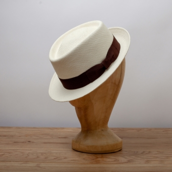 Светлая соломенная шляпа порк-пай K.DORFZAUN