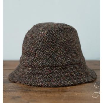 Коричневая твидовая шляпа Эске HANNA HATS