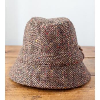 Коричневая твидовая шляпа рыбака HANNA HATS