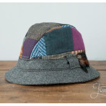 Лоскутная (пэчворк) твидовая деревенская шляпа HANNA HATS