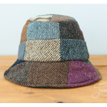 Лоскутная (пэчворк) твидовая мягкая шляпа HANNA HATS