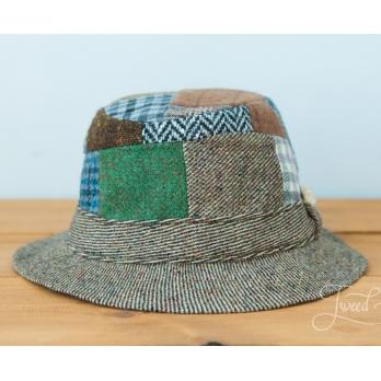 Лоскутная (пэчворк) твидовая прогулочная шляпа HANNA HATS
