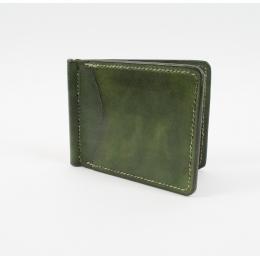 Зелёный зажим для денег КУЗНЕЦОВ & ЯКУНИНА