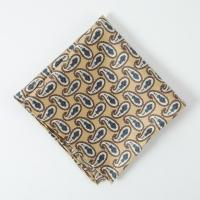 Beige peisley silk Pocket Square