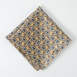 Бежевый платок с узором пейсли FOUR-IN-HAND