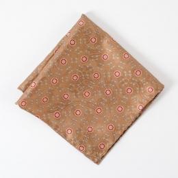 Коричневый платок с орнаментом медальон FOUR-IN-HAND