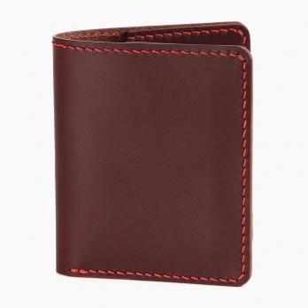 Бордовый компактный кошелёк FRIDAY GOODS двойного сложения