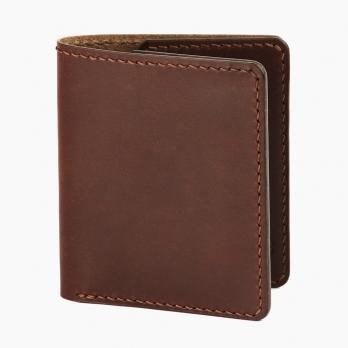 Коричневый компактный кошелёк FRIDAY GOODS двойного сложения