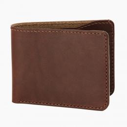 Тёмно-коричневый бумажник FOUR-IN-HAND #1 Dark Brown