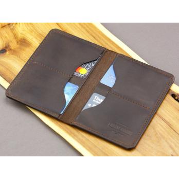 Коричневая обложка для паспорта с четырьмя отделениями для карточек FRIDAY GOODS