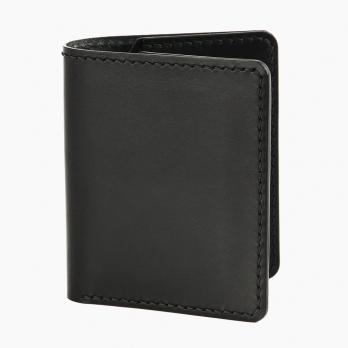 Чёрный компактный кошелёк двойного сложения FRIDAY GOODS