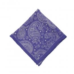 Синий шерстяной платок с узором пейсли FOUR-IN-HAND