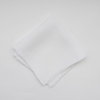 Белый льняной платок FOUR-IN-HAND