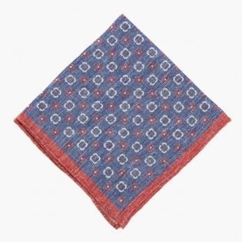 Лавандово-синий платок ELEVENTY с цветочным рисунком
