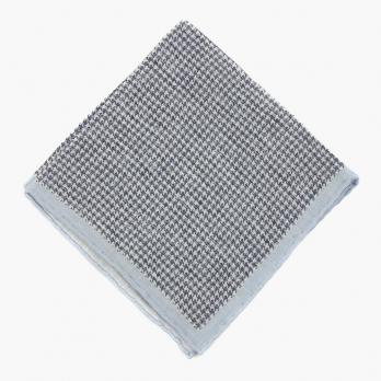 Серо-голубой платок ELEVENTY в ломаную клетку