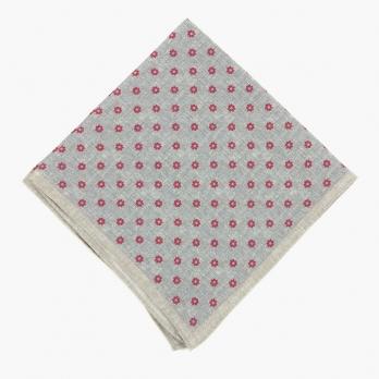 Серый льняной платок ELEVENTY с цветочным рисунком