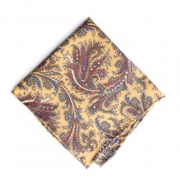 Жёлтый платок с растительным узором FOUR-IN-HAND