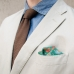 Зелёный шелковый платок с узором пейсли FOUR-IN-HAND