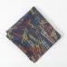 """Темно-синий хлопковый платок с многоцветным узором """"Лестницы"""" FOUR-IN-HAND"""