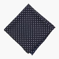 Темно-синий шелковый платок с цветочным узором FOUR-IN-HAND