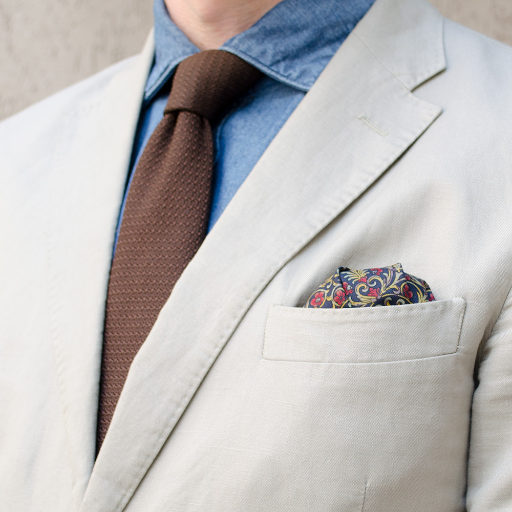 Платочек в кармане пиджака своими руками 315