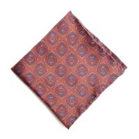 Шелковый платок в бордовых и синих тонах FOUR-IN-HAND