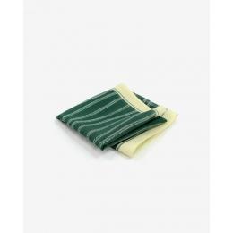 Зеленый платок KIRIKO с узором Yanagi