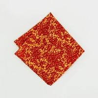 KIRIKO Pocket Square Kimono Burgundy Leaves