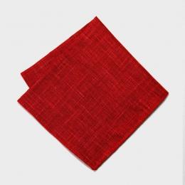 Красный льняной платок KIRIKO