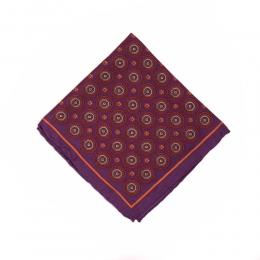 Темно-фиалковый нагрудный платок MICHELSONS с узором медальон