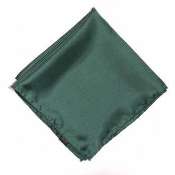 Темно-зеленый шелковый нагрудный платок MICHELSONS