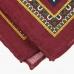 Бордовый платок с цветочным узором VARSUTIE