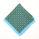 Зелёный шёлковый платок с цветочным узором VARSUTIE