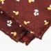 Коричневый шёлковый платок Mushrooms VARSUTIE