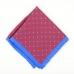 Красный шёлковый платок с цветочным узором VARSUTIE