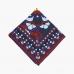 Красный шёлковый платок с витражным орнаментом VARSUTIE