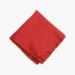 Красный шёлковый платок с мелким орнаментом VARSUTIE