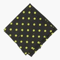 Черный платок из шёлка-шантунга в горошек VARSUTIE