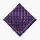 Синий платок из шерсти и шелка с узором пейсли VARSUTIE