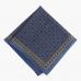 Синий платок с цветочным узором VARSUTIE